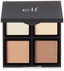 e.l.f. Cosmetics Contour Palette, Four Powder Shades Perfectly Contour and Highlight Your Features, Light/Medium : Beauty