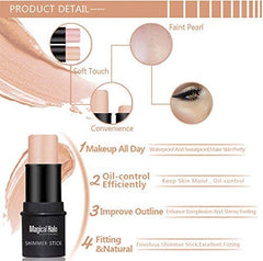 Highlighter Stick, NICEFACE Shimmer Cream Powder Waterproof Light Face Cosmetics (2 colors) : Beauty