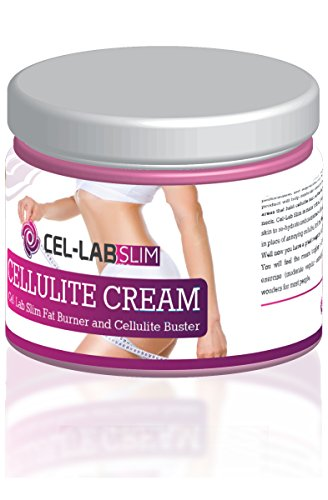ALL NATURAL CELLULITE CREAM (6.7 oz / 200ml) | CEL-LAB SLIM Slimming Cream | Potent Skin-Firming Anti-Cellulite Formula | 100% Satisfaction Guarantee : Beauty