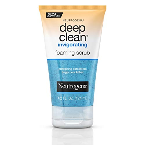 Neutrogena Deep Clean Invigorating Foaming Face Scrub with Glycerin, Cooling & Exfoliating Face Wash to Remove Dirt, Oil & Makeup, 4.2 fl. oz: Beauty