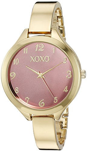 XOXO Women's Quartz Metal and Alloy Watch, Color:Gold-Toned (Model: XO282): Clothing