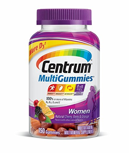 Centrum Women MultiGummies (150 Count, Natural Cherry, Berry, Orange Flavor) Multivitamin / Multimineral Supplement Gummies: Gateway
