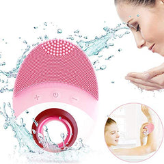 Wireless Facial Cleansing Brush - Silicone Face Brush - Face Massager - Exfoliate Smooth Skin for a Radiant Clear Complexion (Pink): Beauty
