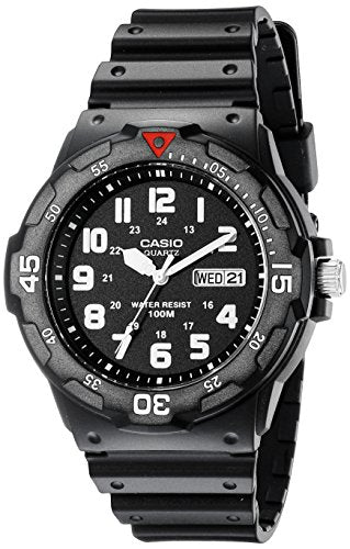 Casio Men's MRW200H-1BV Black Resin Dive Watch: classic: Gateway