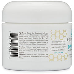Microdermabrasion Facial Scrub & Face Exfoliator - Natural Exfoliating Face Mask with Manuka Honey & Walnut - Moisturizing Facial Exfoliant for Dull Dry Skin, Wrinkles, Acne Scars & More 2.0oz/56.6g: Beauty