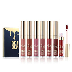 6pcs Matte Velvety Liquid Lipstick Matte Liquid Lipgloss Waterproof Lip Gloss : Gateway