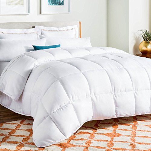 Linenspa All-Season Down Alternative Quilted Comforter - Hypoallergenic - Plush Microfiber Fill - Machine Washable - Duvet Insert or Stand-Alone Comforter - White - Queen: Gateway
