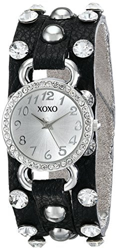 XOXO Women's XO3391 Analog Display Analog Quartz Black Watch: Clothing