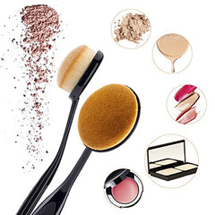 Duorime New 7pcs Black Oval Toothbrush Makeup Brush Set Cream Contour Powder Concealer Foundation Eyeliner Cosmetics Tool …: Beauty