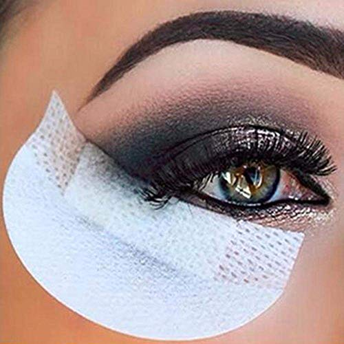 Eyeshadow stencils 100 Pcs Eye Shadow Shields Eye Makeup Pads for Eyelash Extensions or Lip Makeup(White) : Beauty