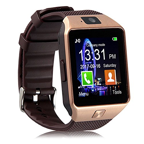 Padgene DZ09 Bluetooth Smart Watch with Camera for Samsung, Nexus, HTC, Sony, LG and Other Android Smartphones (Gold): Gateway