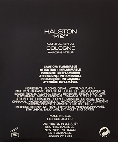 Halston 1-12 by Halston for Men, Cologne Spray, 4.2-Ounce : Perfume For Men : Beauty