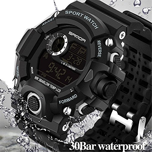 Wdnba Mens Watch Quartz Watch Military Watch Fashion Dive Men's Sport LED Digital Watches: Gateway