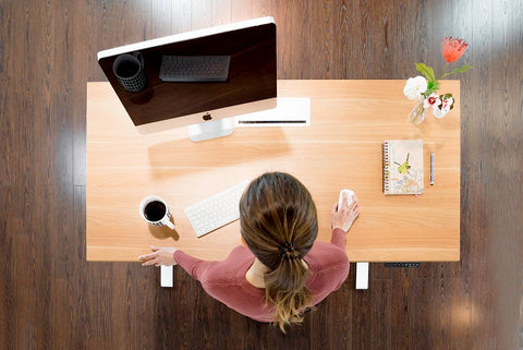 Wooden tabletop material for standing desk
