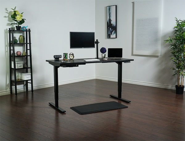 A monitor stand for a sit-stand desk