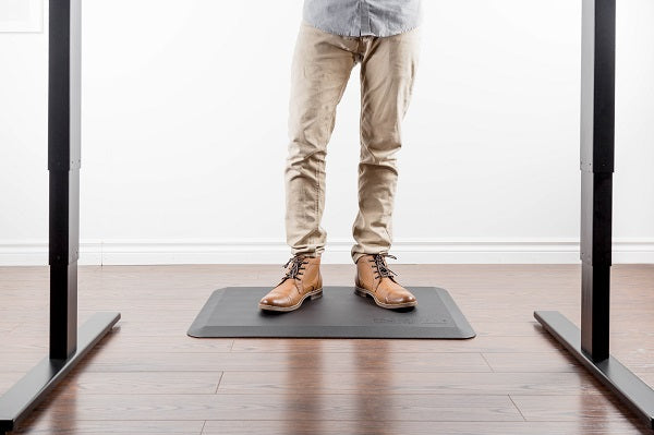 Anti-fatigue floor mats for standing desks