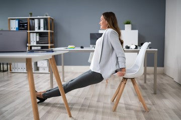 Desk exercise for triceps