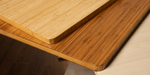 Eco-friendly bamboo tabletop standing desk