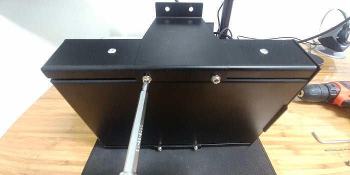 Install the Brackets to the Desk #4