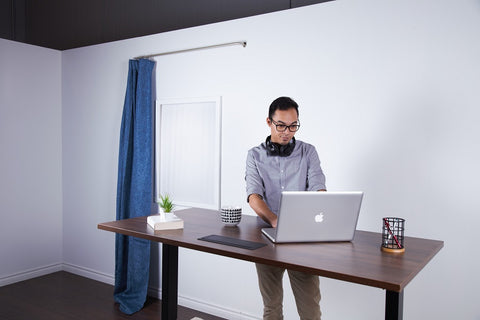 Image of a man for standing desk