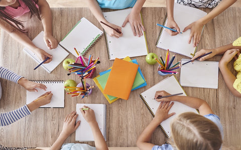 Photo of children are drawing for desk