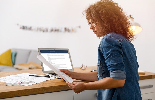 Woman working at an office