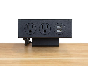 2-Plug Desk Clamp Power Bar w/ USB Ports #3