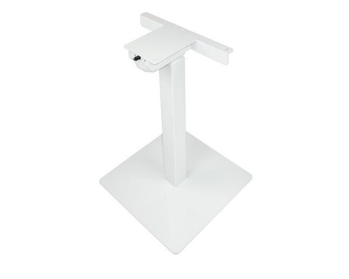 Single Table Lift Frame w/ Base - White