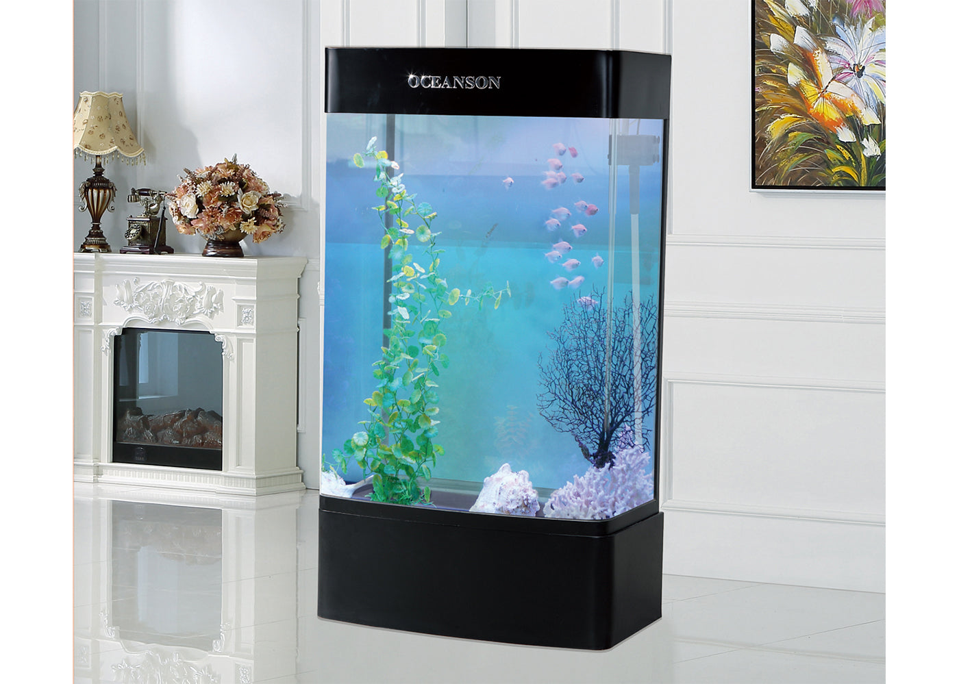 Oceanson GHH150 - 150cm Curved Face Tall Aquarium and Base