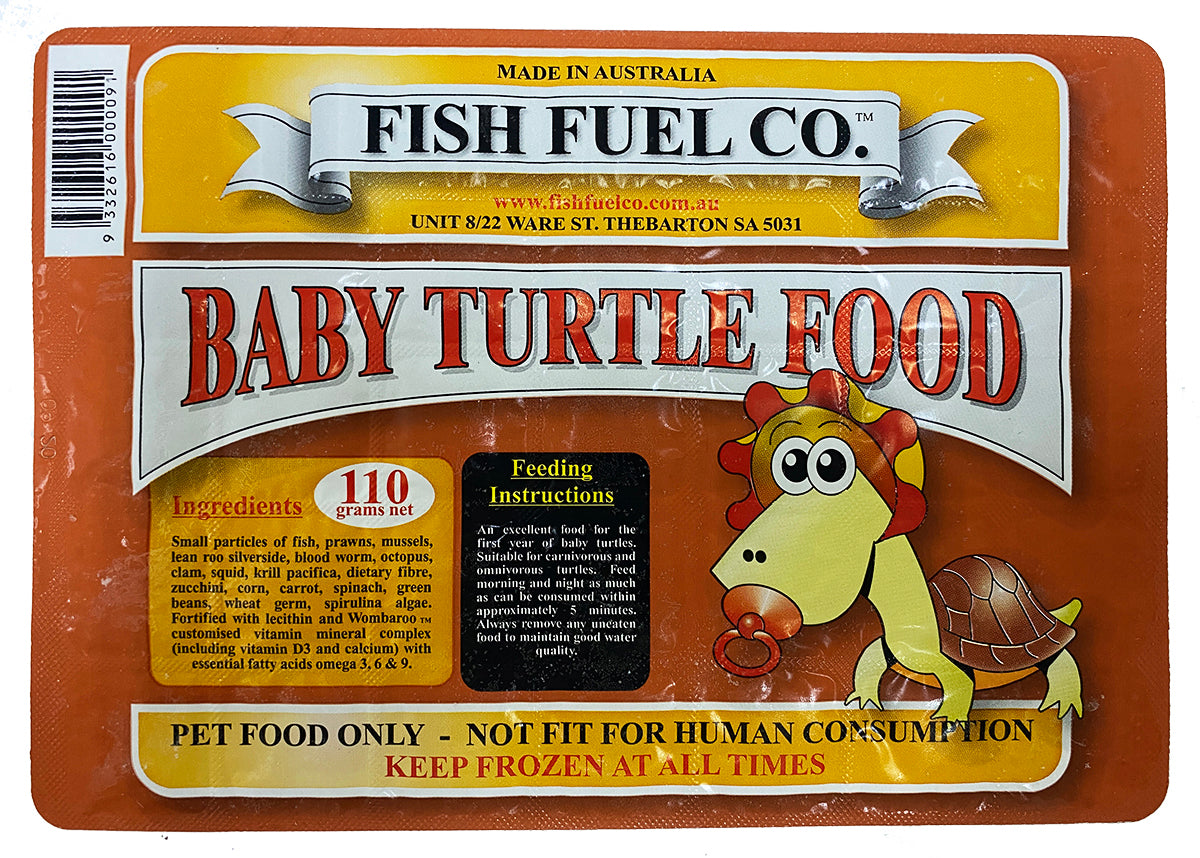 Fish Fuel Co. Frozen Baby Turtle Food - 10 Pack