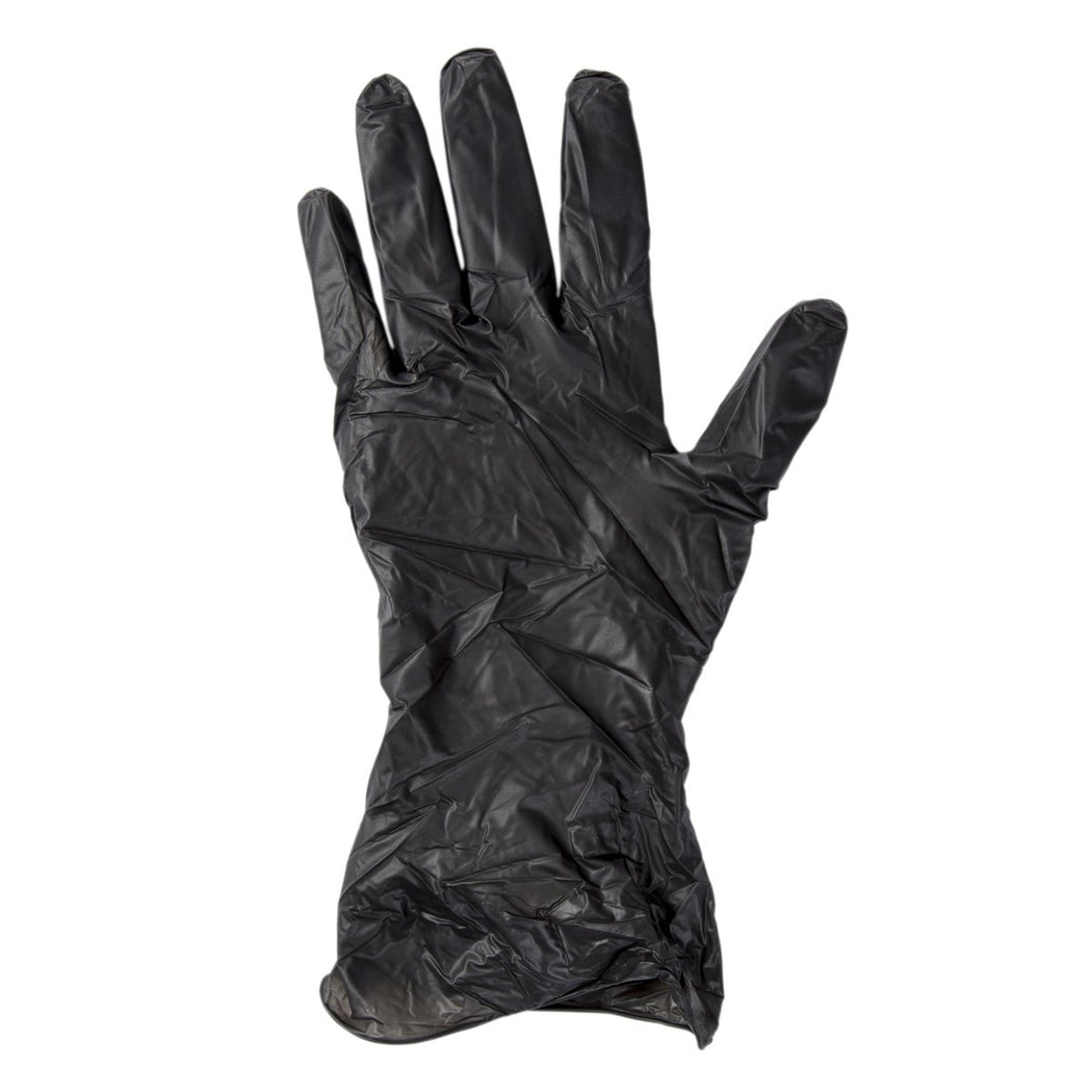 Bandit Black Powder Free Vinyl Gloves X-Large Box of 100
