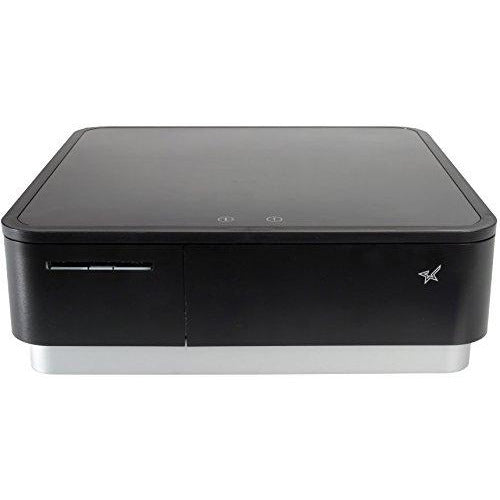 Star Micronics mPOP Integrated Receipt Printer & Cash Drawer with Tablet Stand and USB Barcode Scanner - Black