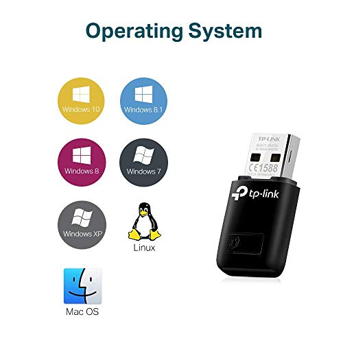TP-Link TL-WN823N N300 Mini USB Wireless WiFi network Adapter for pc, Ideal for Raspberry Pi,Black