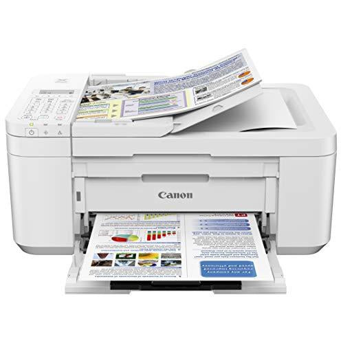 Canon PIXMA TR4520 Wireless All-in-One Photo Printer with Mobile Printing White