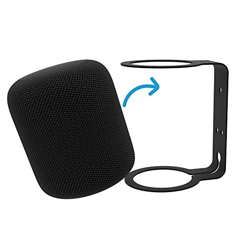 RackSolutions Wall Mount Bracket for Apple HomePod Steel Holder - Black