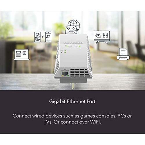 NETGEAR AC1900 Mesh WiFi Extender, Seamless Roaming, One WiFi Name, Works with Any WiFi Router