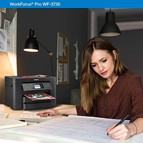 Epson WorkForce Pro WF-3730 All-in-One Wireless Color Printer with Copier, Scanner, Fax & Wi-Fi Direct