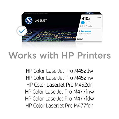 HP 410A | CF411A | Empty Toner Cartridge | Cyan, 1 Pack
