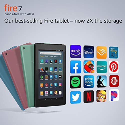 "Amazon Fire 7 tablet (7"" display, 16 GB) - Plum"