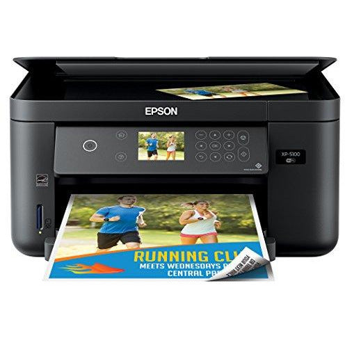 Epson Expression Home XP-5100 Wireless Color Photo Printer, Scanner, Copier