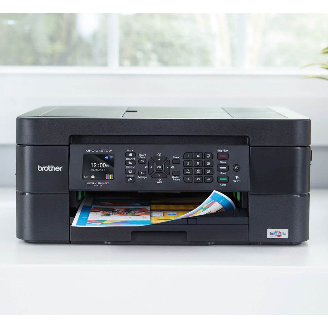 Brother Work Smart Series MFC-J497DW Wireless All-In-One Inkjet Printer Black