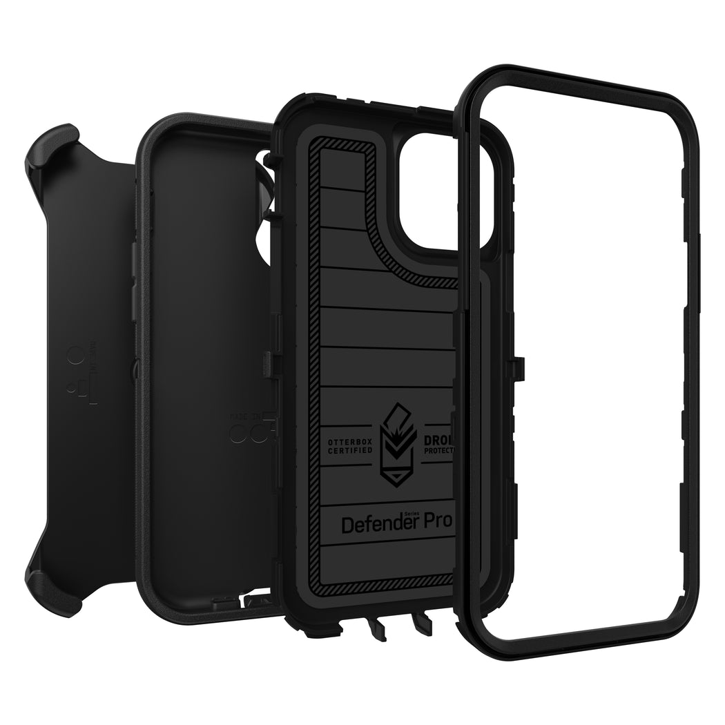 OtterBox Defender Series Pro Phone Case for Apple iPhone 12, iPhone 12 Pro Black