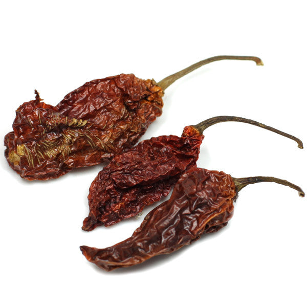 Dried whole ghost peppers
