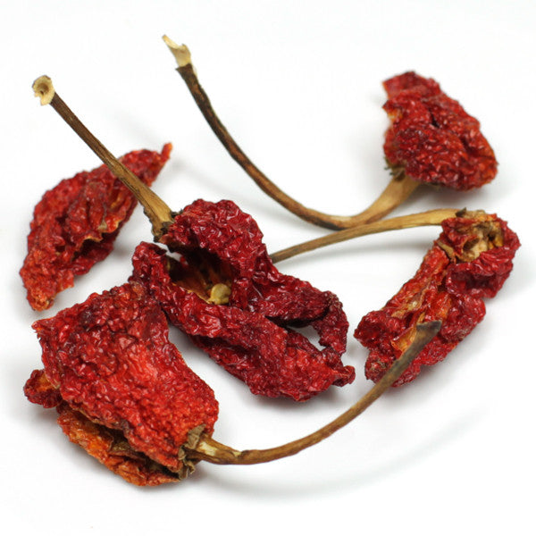 whole dried Trinidad Scorpion peppers