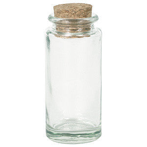 recycled glass cylinder spice jar