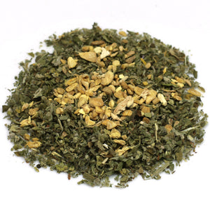 organic throat soothing herbal tea blend