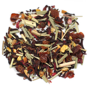 organic hibiscus herbal tea blend. Caffeine-free