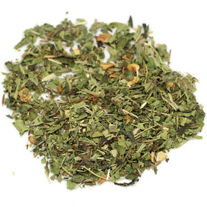organic lemon herbal tea blend. Caffeine-free