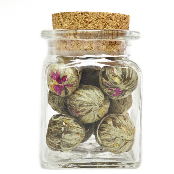 Flowering Double Happiness tea ball gift set
