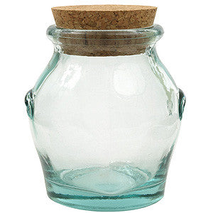 Recycled Glass Honey Jar - large